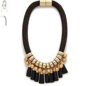 EUC Holst + Lee Leather Lace Necklace